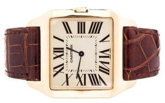 Cartier excellent (EX 18K Yellow Gold Large Dumont Santos Unisex Watch Ref. W2008751
