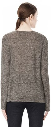 Alexander Wang Heather Linen Long Sleeve Crew Neck Tee
