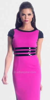 NUE by Shani Hot Pink Short Sleeved Day Dress from NUE
