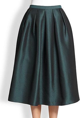 Tibi Simona Jacquard Midi Skirt