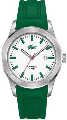 Lacoste Watch, Men's Green Rubber Strap 2010412