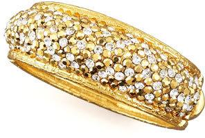 Jose & Maria Barrera Pave-Crystal Bracelet, Golden