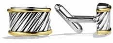 David Yurman Cable Cigar Band Cuff Links