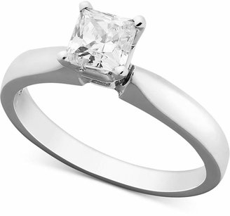 Macy's Princess-Cut Diamond Solitaire Engagement Ring in 14k White Gold (5/8 ct. t.w.)
