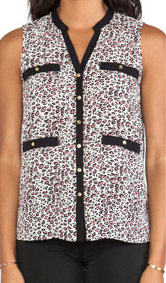 Central Park West Ivory Coast Sleeveless Top