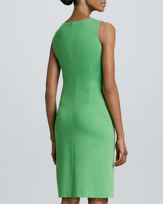 David Meister Sleeveless Jewel-Neck Dress