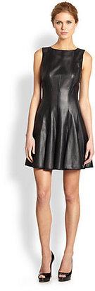 Jay Godfrey Dwight Vegan-Leather Perforated Dress