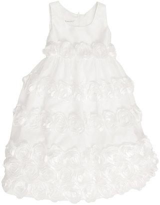 Bonnie Jean Kids Dress, Girls Satin Rosette Flower Girl Dress