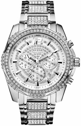 GUESS Men's Chronograph Crystal-Accent Stainless Steel Bracelet Watch 47mm U0291G1 $200 thestylecure.com