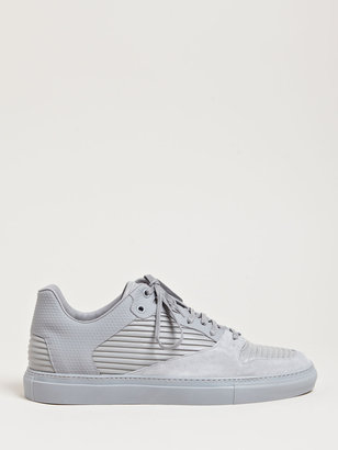 Balenciaga Men's Raised Leather Panel Trainers