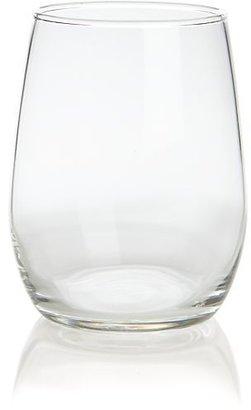 Crate & Barrel Set of 12 stemless wine taster glasses. 6 oz.