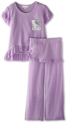 Luna Luna Copenhagen Halle 2 Piece Tissue Soft Set (Toddler) (Lavender) - Apparel