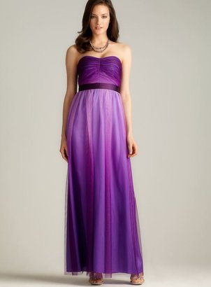 Phoebe Couture Phoebe Strapless Ombre Tulle Gown