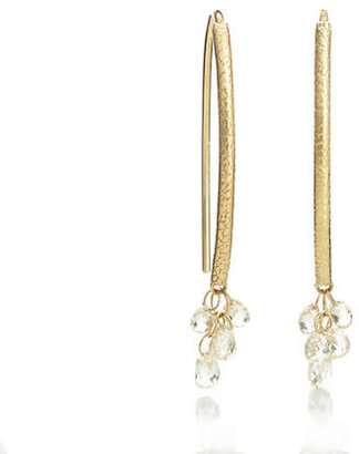 Gump's Barbara Heinrich Pale Yellow Diamond Briolette Cluster Earrings