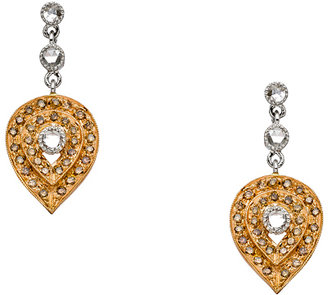 Sethi Couture Rose Cut Champagne Diamond Petal Earrings