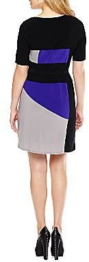 JCPenney Colorblock Belted Dress - Petite