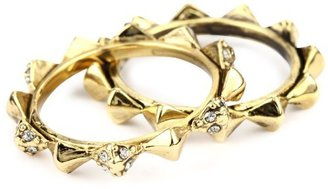 House Of Harlow Gold-Plated Spike Stack Ring
