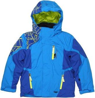 Spyder Boys' Challenger Jacket (Big Kids) (Collegiate/Just Blue/Sharp Lime) - Apparel