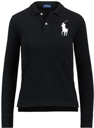 Polo Ralph Lauren Skinny Fit Big Pony Polo $115 thestylecure.com