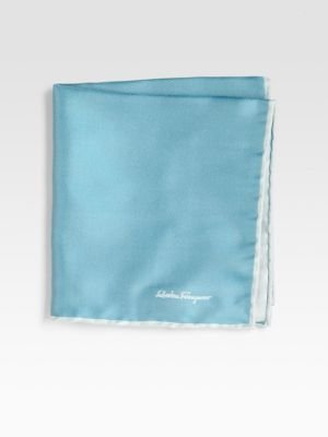 Salvatore Ferragamo Silk Twill Pocket Square