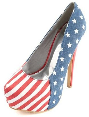 Charlotte Russe Canvas American Flag Pump