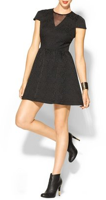 Miss Me Jacquard Fit and Flare Dress