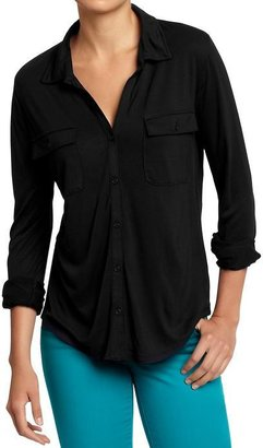 Old Navy Women's Jersey Cargo Shirts