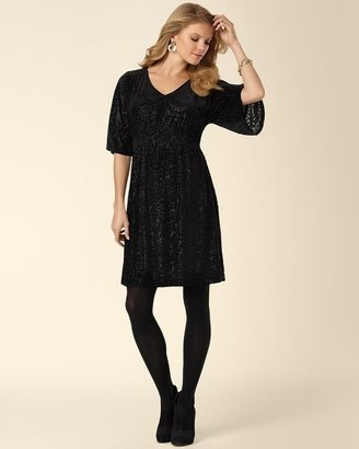 Soma Intimates Devore Velvet Dress Black