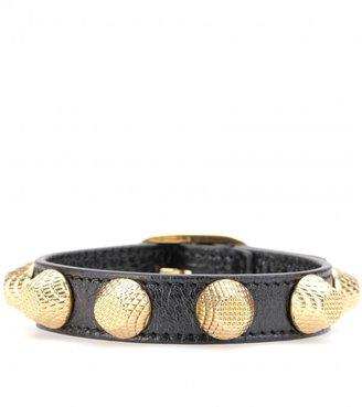 Balenciaga Giant Stud leather bracelet