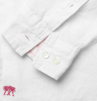Mustique Pink House Linen Shirt