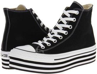 Converse CT Platform Hi (Black/White) - Footwear