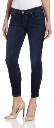 7 For All Mankind Women's Cropped-Cigarette Jean in Radiant Medium Blue