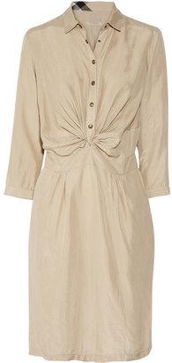 Burberry Brushed-silk knot dress