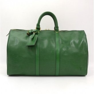 Louis Vuitton very good (VG) Vintage Green Epi Leather Keepall 45 Travel Bag