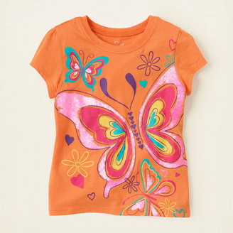 Children's Place Spring butterflies graphic tee
