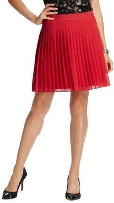 LOFT Tall Pleated Chiffon Full Skirt