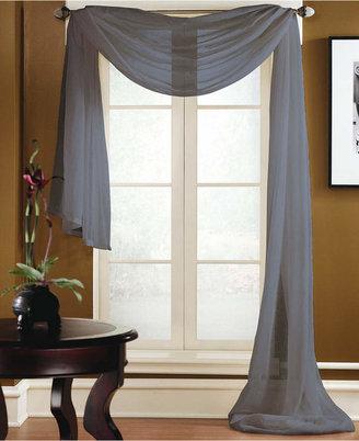"""Miller Curtains Sheer Preston Rod Pocket 48"""" x 216"""" Scarf Valance"""