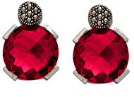 Marc Shoes Faceted Round Magenta Pink Earrings