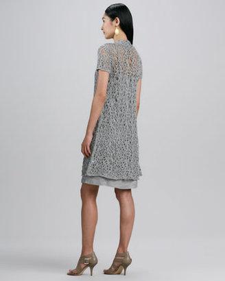 Eileen Fisher Twinkle Linen Slip-Dress