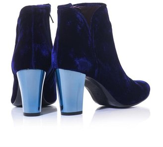 Opening Ceremony Velutto velvet high heel boots