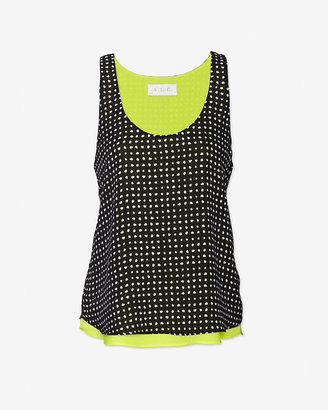 A.L.C. Exclusive Holmes Double Layer Silk Tank
