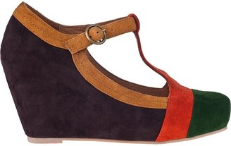 Jeffrey Campbell Darnell Wedge Pump Brown Multi