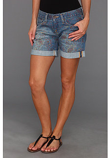 Lucky Brand Print Paisley Abbey Double Roll Short