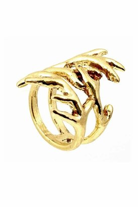 House Of Harlow Antler Wrap Ring in Yellow Gold