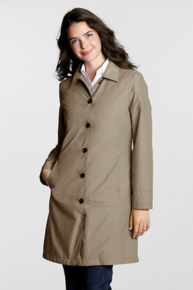 Lands' End Women's Petite SunShower Raincoat with Zip-out Liner