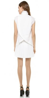 Derek Lam 10 Crosby Shirt Dress with Pleated Skirt