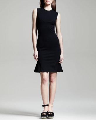 Stella McCartney Sleeveless Yoked Flounce Dress