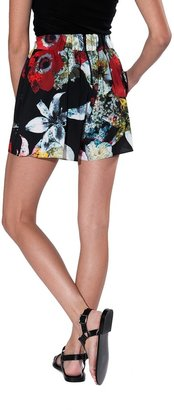 Alice + Olivia High Waisted Floral Printed Shorts