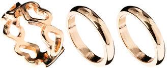 Asos Heart & Band Ring Pack