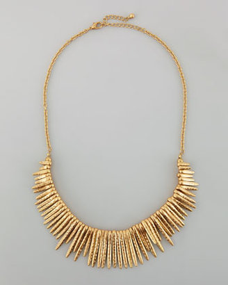 Panacea Hammered Spiked Fringe Necklace